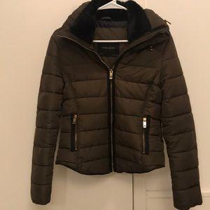 Zara Women's Oliver Puffer Jacket with Black Fur